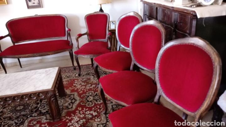 Antigüedades: Tresillo Isabelino - Foto 4 - 117677122