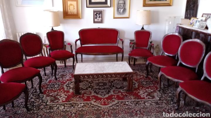 Antigüedades: Tresillo Isabelino - Foto 5 - 117677122