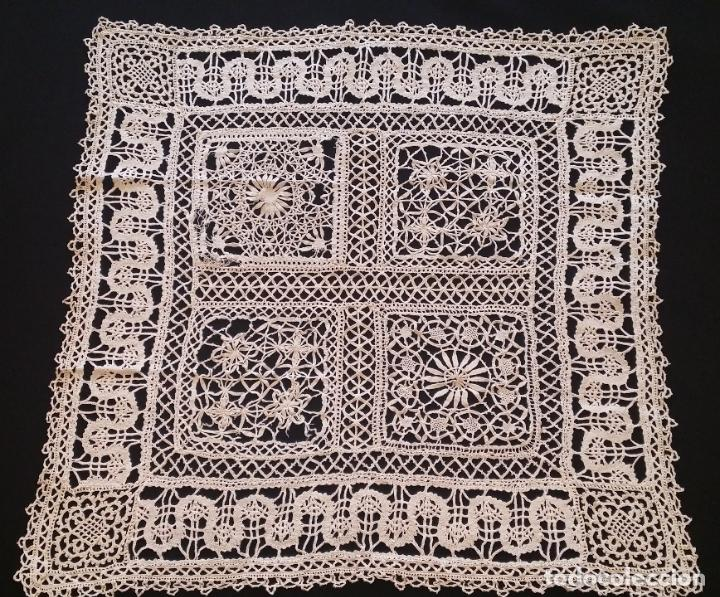 Antigüedades: Antiguo mantel / tapete de bolillos - Foto 3 - 117677411