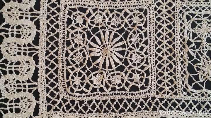Antigüedades: Antiguo mantel / tapete de bolillos - Foto 6 - 117677411