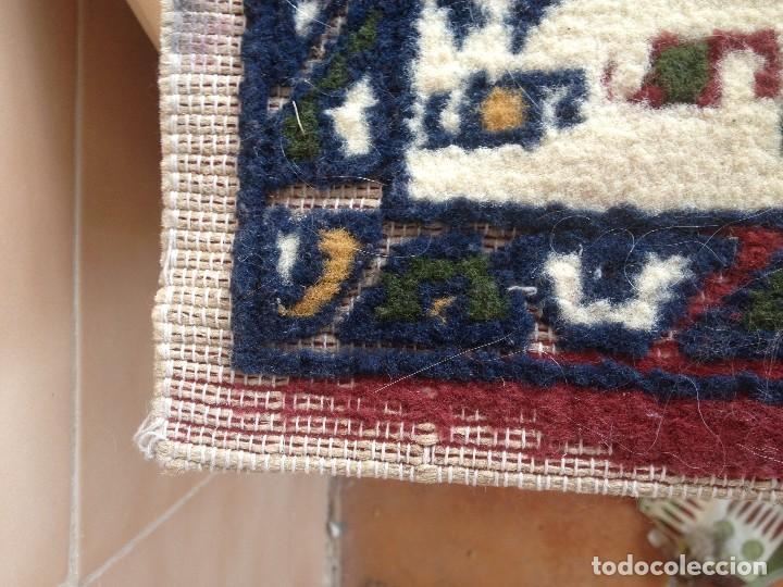 Antigüedades: Pequena alfonbra persa de lana pura echa amano varios colores - Foto 2 - 117692087
