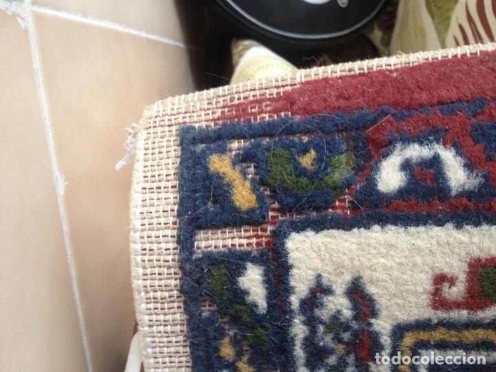 Antigüedades: Pequena alfonbra persa de lana pura echa amano varios colores - Foto 3 - 117692087