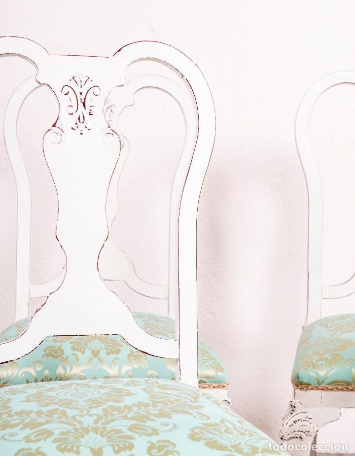 Antigüedades: Juego De Sillas Restauradas Annie - Foto 3 - 117712063