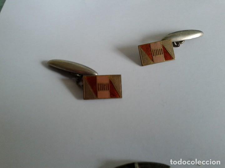 Antigüedades: 2 pares vintage gemelos - Foto 3 - 117713223