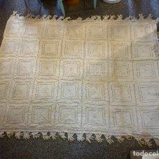 Antiquitäten - colcha antigua vintage ganchillo crochet cama matrimonio - 117714123