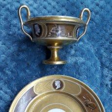 Antigüedades: PRECIOSO JUEGO TAZA Y PLATITO ESTILO NEOCLÁSICO. Lote 117727166