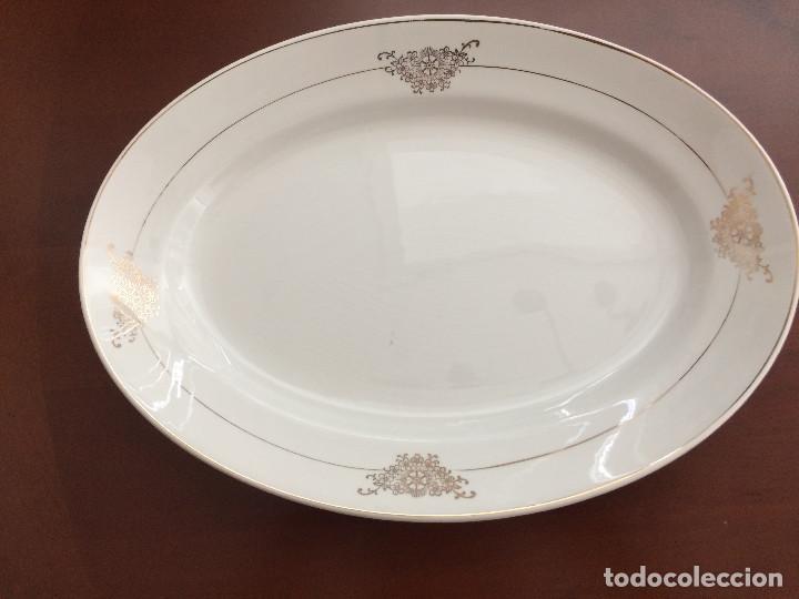 FUENTE LOZA AÑOS 40 SAN CLAUDIO- IMPECABLE (Antigüedades - Porcelanas y Cerámicas - San Claudio)