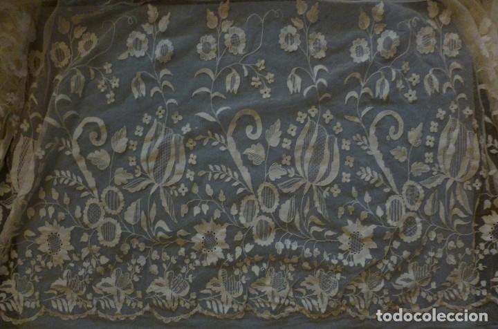 Antigüedades: ANTIGUA PIEZA DE ENCAJE IMAGEN - NOVIA S.XIX - Foto 15 - 117741435
