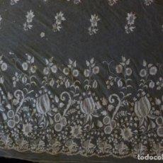 Antigüedades: ANTIGUA PIEZA DE ENCAJE IMAGEN - NOVIA S.XIX. Lote 117741435