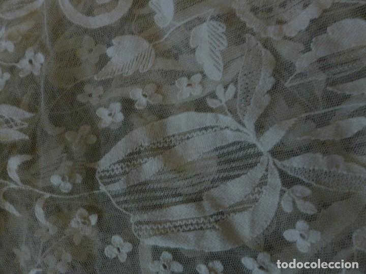 Antigüedades: ANTIGUA PIEZA DE ENCAJE IMAGEN - NOVIA S.XIX - Foto 12 - 117741435