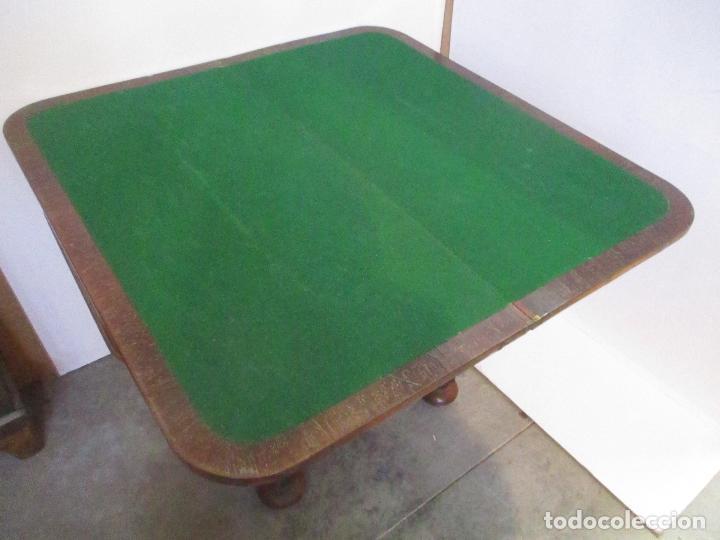 Antigüedades: Mesa de Juego - Consola - Estilo Regencia - Inglaterra - Madera de Palisandro - Principios S. XX - Foto 6 - 117741719