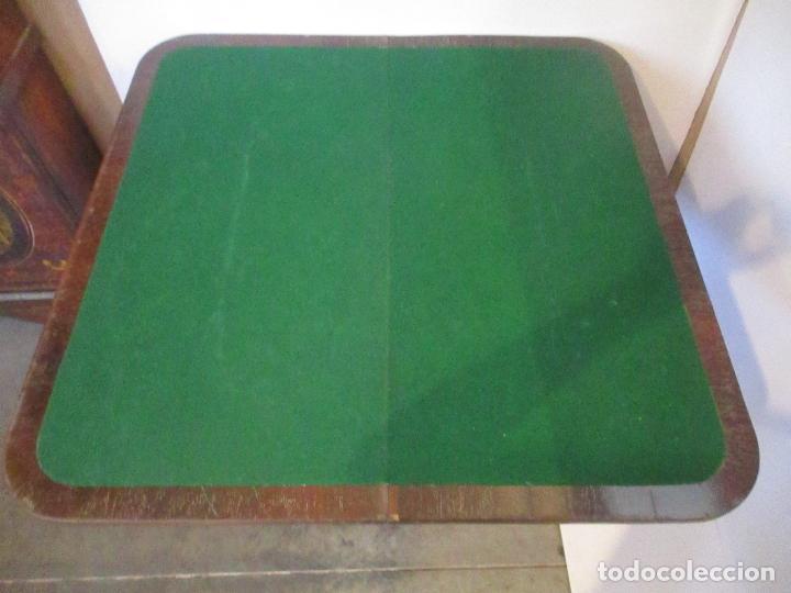 Antigüedades: Mesa de Juego - Consola - Estilo Regencia - Inglaterra - Madera de Palisandro - Principios S. XX - Foto 7 - 117741719