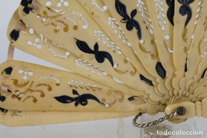 Antigüedades: Abanico de caballero en hueso calado años 20 - Foto 5 - 117758183