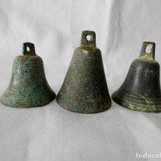 Antigüedades: CAMPANAS DE BRONCE ANTIGUAS. Lote 117758555