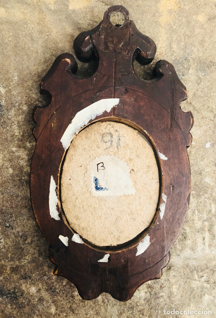 Antigüedades: Marco. Siglo XIX. Cristal de Roca. Miniatura. - Foto 2 - 117773462