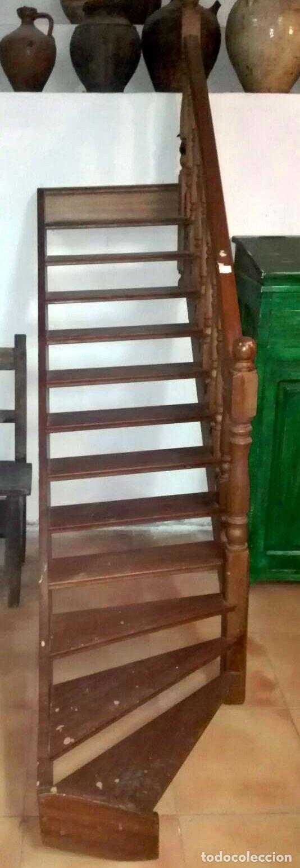 Antigüedades: Magnífica escalera de biblioteca . Caoba - Foto 2 - 117774979