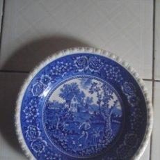 Antigüedades: PLATO DE PORCELANA ALEMANA DE VILLEROY & BOCH, SERIE RUSTICANA AZUL, C.1900. Lote 117776279