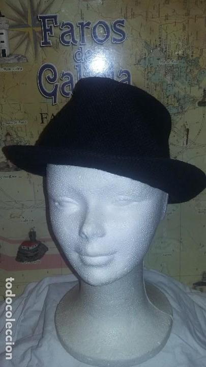 6803c16f2a7d0 sombrero negro - Comprar Sombreros Antiguos en todocoleccion - 117783007