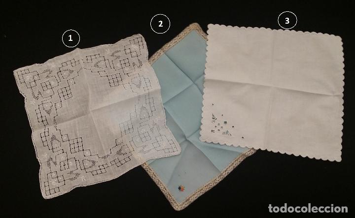 Antigüedades: Lote de 3 pañuelos - Foto 2 - 117795275