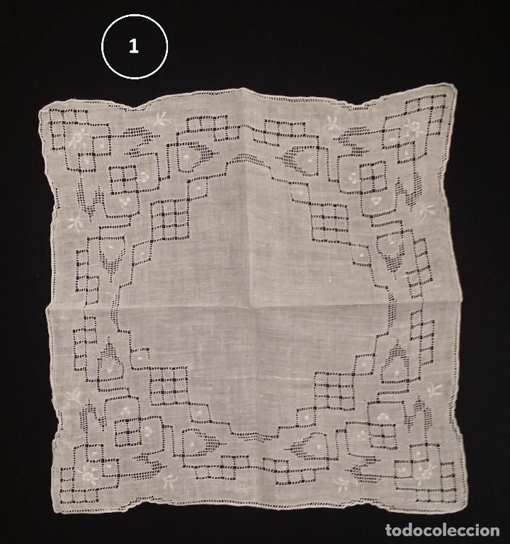 Antigüedades: Lote de 3 pañuelos - Foto 3 - 117795275