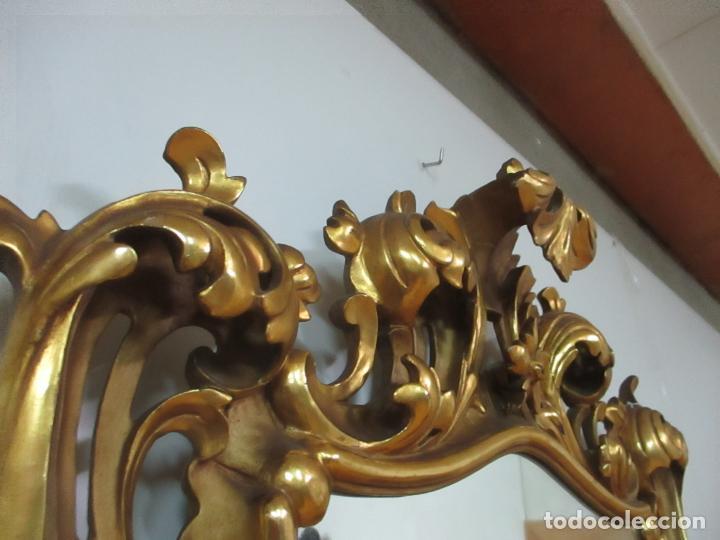 Antigüedades: Bonito Espejo - Cornucopia - Madera Tallada y Dorada con Pan de Oro - 73 cm x 106 cm - S. XIX - Foto 18 - 117794911