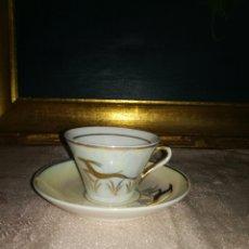 Antigüedades: TAZA DE CAFE NACARADA. Lote 117821955