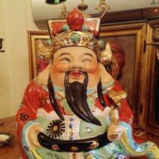 Antigüedades: BUDA CHINO. HOTEI DE PORCELANA ESMALTADA Y PINTADA A MANO. ORIGEN CHINA. MEDIADOS SIGLO XX. Lote 117825404