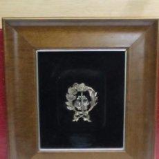 Antigüedades: CUADRO CON ESCUDO DE LA JUSTICIA, DE PLATA. Lote 117833827
