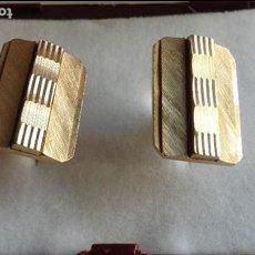 Antigüedades: GEMELOS PLAQUE ORO. Lote 117837995