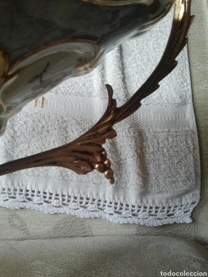 Antigüedades: Centro de mesa. Ceramica y metal dorado - Foto 5 - 117846990