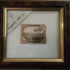 Antigüedades: CUADRO PEQUEÑO PLATA ARGENTO 925. Lote 117849206