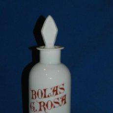 Antigüedades: (M) ALBARELO BOTE DE FARMACIA DE OPALINA FINALES S.XIX - BOLAS G ROSA , 30 CM. Lote 117854959
