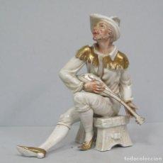 Antigüedades - GRAN FIGURA DE PORCELANA. TROVADOR. LOPEZ MORENO - 117863491