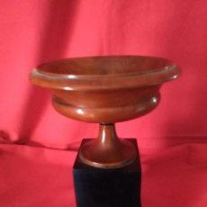 Antigüedades: COPA DE MADERA Y LACA. Lote 117890391