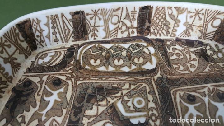 Antigüedades: BANDEJA DE CERÁMICA.. ROYAL COPENAGEN. NIL THORSEN. DECORADA A MANO. CIRCA 1970. - Foto 4 - 117892335