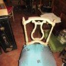 Antigüedades: SILLA DE LIRA LACADA, ANTIGUA. Lote 117895735