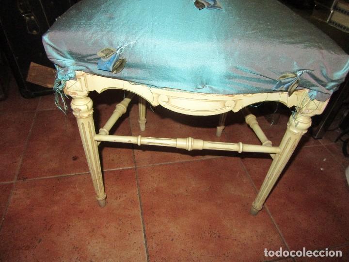 Antigüedades: SILLA DE LIRA LACADA, ANTIGUA - Foto 3 - 117895735