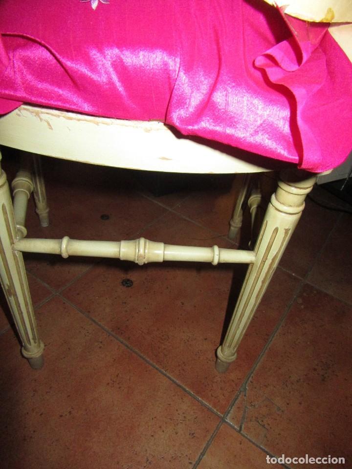 Antigüedades: SILLA DE LIRA LACADA, ANTIGUA - Foto 4 - 117895871