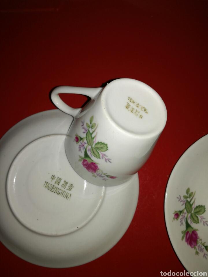 Antigüedades: Pareja de tazas de porcelana China - Foto 4 - 117923300