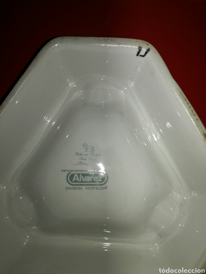 Antigüedades: Cenicero Martini de porcelana de Santa Clara - Foto 4 - 117924938