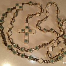 Antigüedades: ANTIGUO ROSARIO GRANDE CON TESELAS DE MOSAICO AÑOS 70....RO9. Lote 117944363