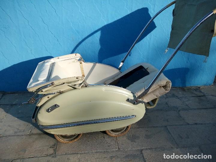 Antigüedades: Cochecito de bebe aerodinámico marca royal era. años 20/30, completo. - Foto 13 - 117953855