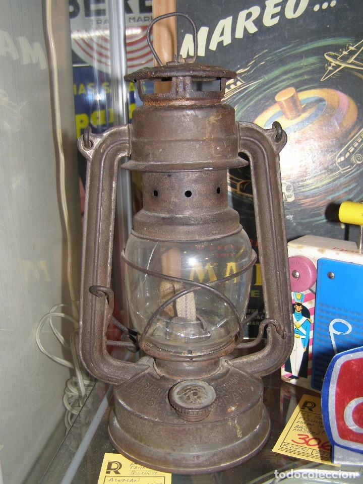 ANTIGUO FAROL QUINQUÉ ORIGINAL NIER FEUERHAND. ALEMANIA, 1920-30S. 28 CMS ALTURA. (Antigüedades - Iluminación - Quinqués Antiguos)