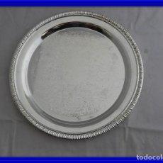 Antigüedades: PLATO BANDEJA DE METAL PLATEADO . Lote 117974959