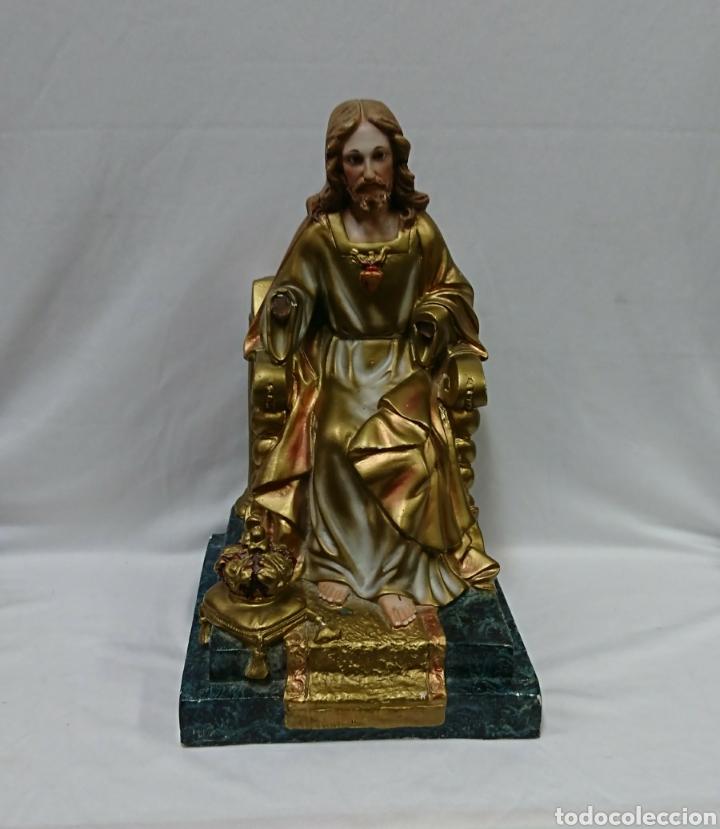 SAGRADO CORAZÓN DE JESÚS, ESCAYOLA, PARA RESTAURAR (Antigüedades - Religiosas - Varios)