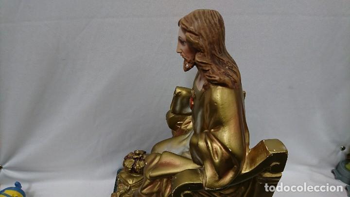 Antigüedades: SAGRADO CORAZÓN DE JESÚS, ESCAYOLA, PARA RESTAURAR - Foto 10 - 117975523