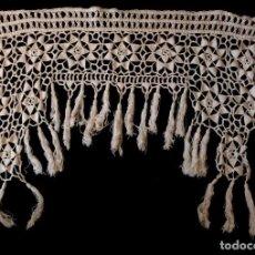 Antigüedades: ANTIGUO CABEZAL DE GANCHILLO - PRINCIPIOS S. XX. Lote 117982451