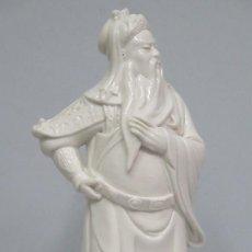 Antigüedades: PRECIOSA FIGURA DE PORCELANA BLANCA. CHINA. Lote 118020375