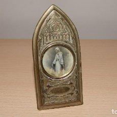Antigüedades: ANTIGUA IMAGEN DE LA VIRGEN EN METAL DORADO. Lote 118042639