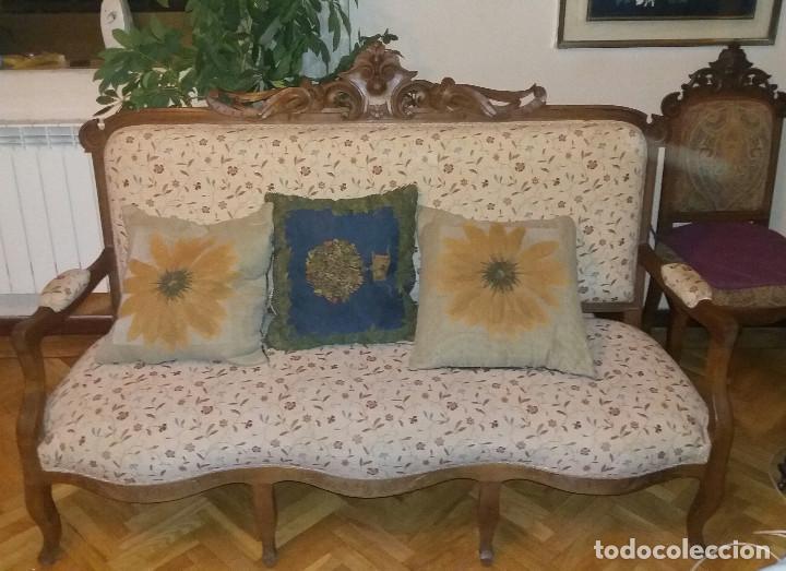 Antigüedades: Tresillo Alfonsino - Foto 2 - 74294235